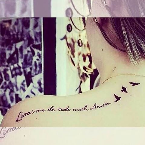 Livrai me de todo o mal amém - Deliver me from evil Amen  #frasetatuagens #tatuagens #tattoo #tattooink #caligrafia #Frases #tattooidea #tattoolife #tattooist #custom #lettersallday #lettering #calligraphy #letteringtattoo #handtype #script #scripttattoo #ink #tatuagem #escrita #tattooescrita #tatuagemescrita #instattoo #tattooartist #tatuagemfeminina #tattoosfofas #tatuagenscaligraficas #tattoogirls