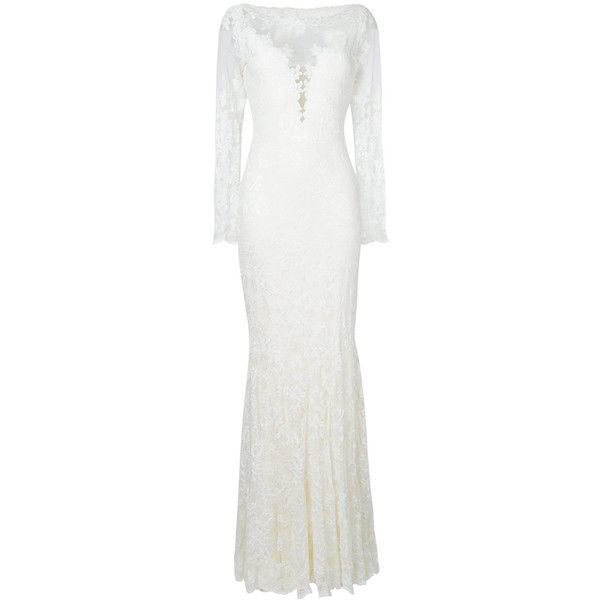 Olvi´S lace-embroidered flared dress (7.080 BRL) ❤ liked on Polyvore featuring dresses, white, white broderie dress, white flare dress, white colour dress, embroidery lace dress and white dresses