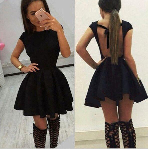 Scoop Solid High-waist Pleated Short Dress