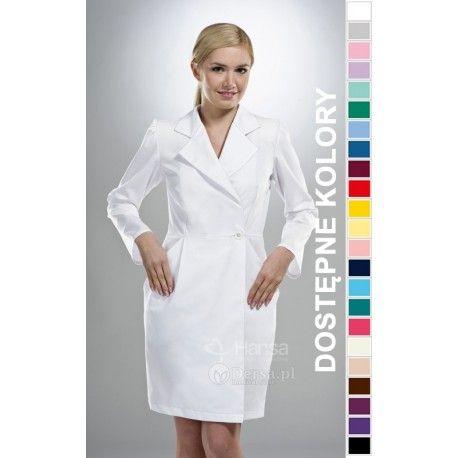 Dobrej jakości i wygodna odzież medyczna, to niezawodny atrybut każdego lekarza, pielęgniarki, czy farmaceutki. | Fartuch medyczny damski Hansa 0033. |