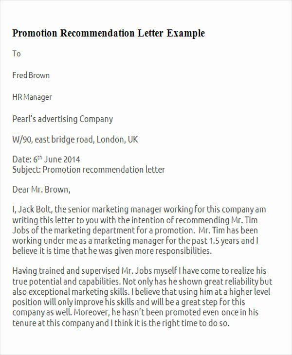 30 Recommendation Letter For Professor Promotion In 2020 Letter