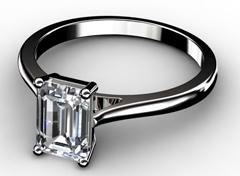 Diamant Verlobungsring Wahrheit, 750er Weißgold 18K