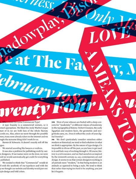 Lage type, colorful overlapping bars. is it chaotic and messy? perhaps... But do I like it? YES!