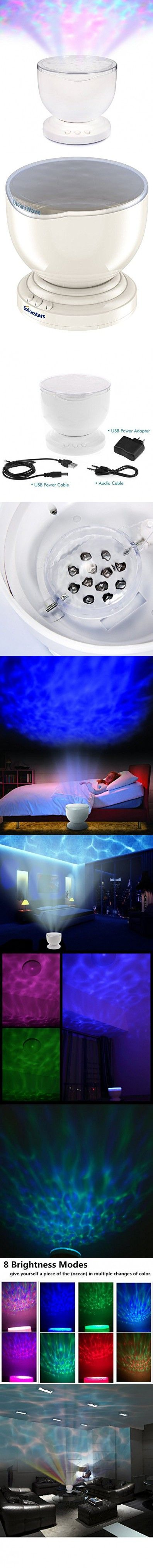 Led night light kickstarter - Ocean Wave Night Light Elecstars Music Player Multicolor Led Bulbs Projection Lamp Romance
