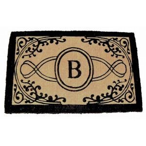 monogram door mat. one for back door and front door
