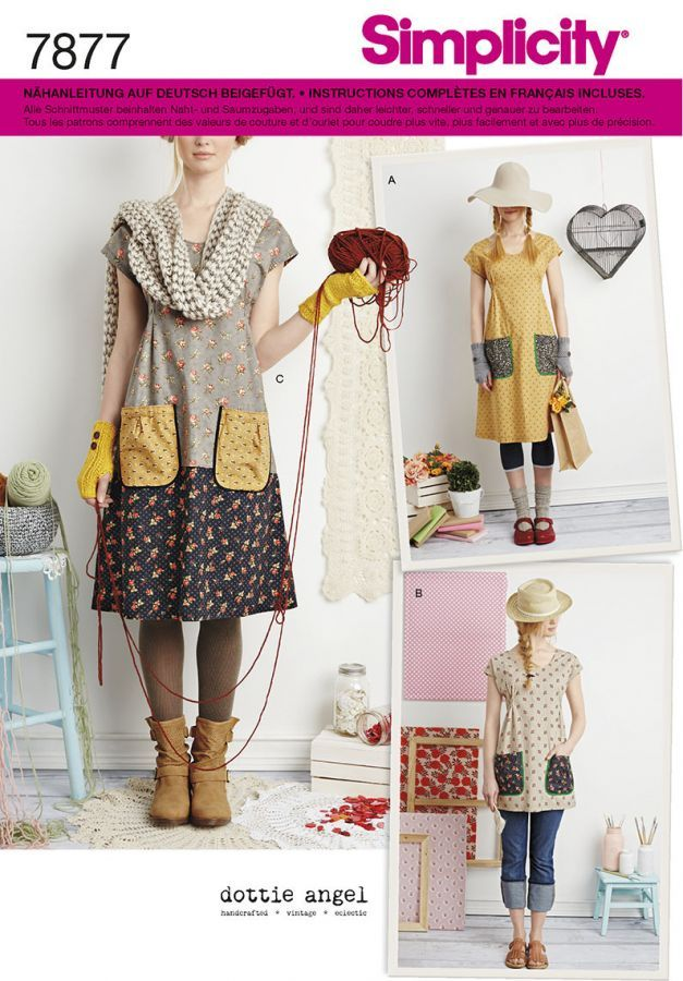7877 Simplicity Schnittmuster Kleid Tunika by Dottie