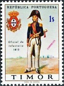 Stamp: Military uniforms (Timor) Mi:TL 349,Sn:TL 326,Afi:TL 341