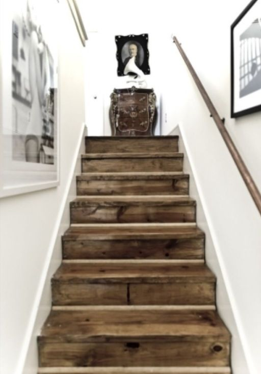 Best Distressed Wood Stairs Barn Wood Stairs Diy Staircase 640 x 480