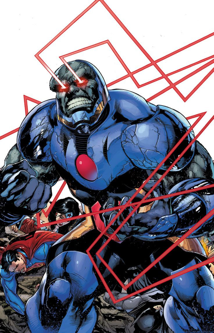 Darkseid vs Justice League by Ivan Reis