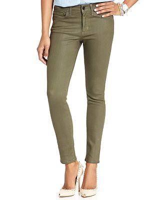 Else Jeans Skinny Jeans, Green-Wash