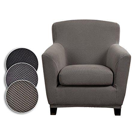 Bellboni® Couchhusse für Einsitzer Couchsessel, Loungesessel, Sofabezug, bi-elastische Stretchhusse, Spannbezug für viele gängige Einer Sessel, grau  http://amzn.to/2sjVIai