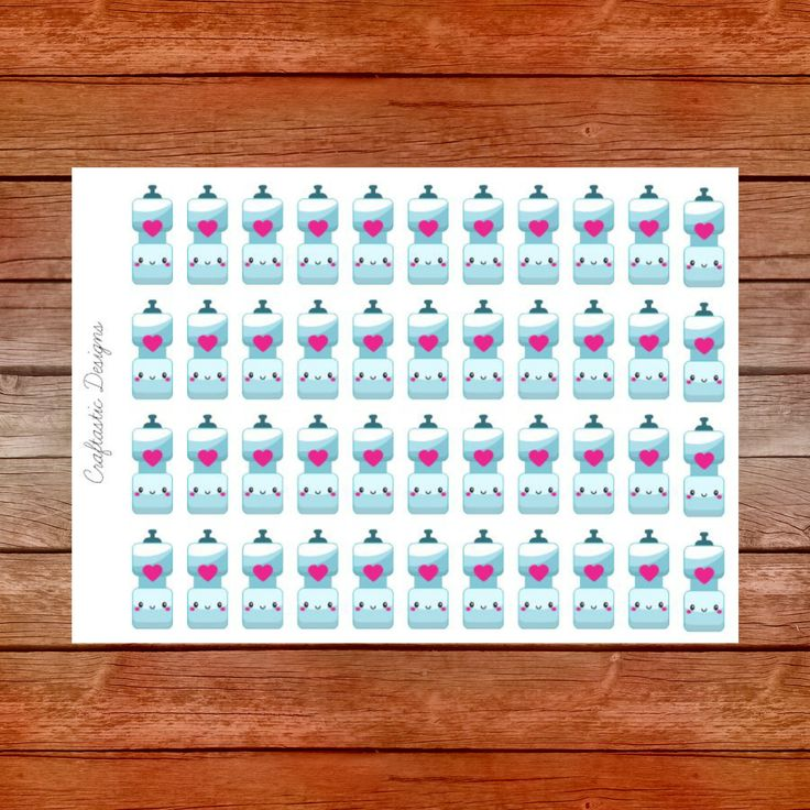 Cute Water Bottle Planner Stickers by CraftasticsDesigns on Etsy