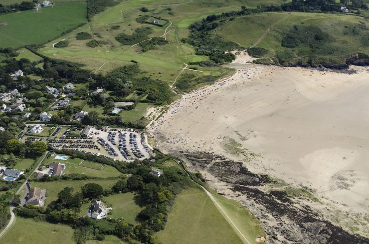 Trebetherick and Daymer Bay in north Cornwall - aerial view | by John Fielding #trebetherick #daymerbay #cornwall #coast #aerial