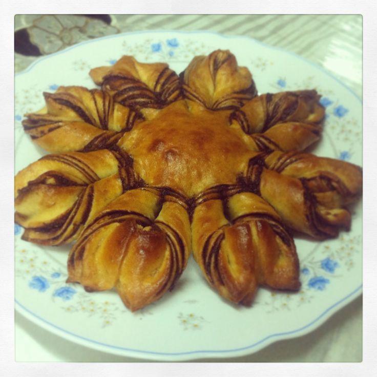 Nutella Flower Brioche