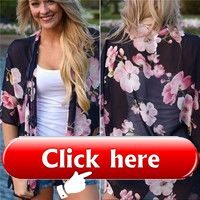 Stylish Summer Beach Coat Women Fashion Floral Printed Beachwear Ladies Bat-wing…