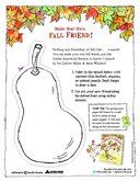 """Make Your Own Fall Friend! From a staff favorite book """"Sophie's Squash"""""""