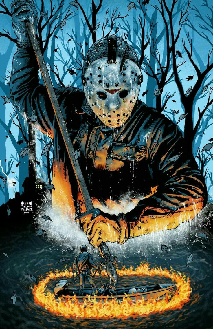 Jason Voorhees art from the FRIDAY THE 13TH series of films.