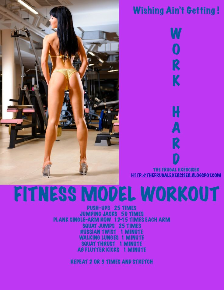 The Fitness model workout