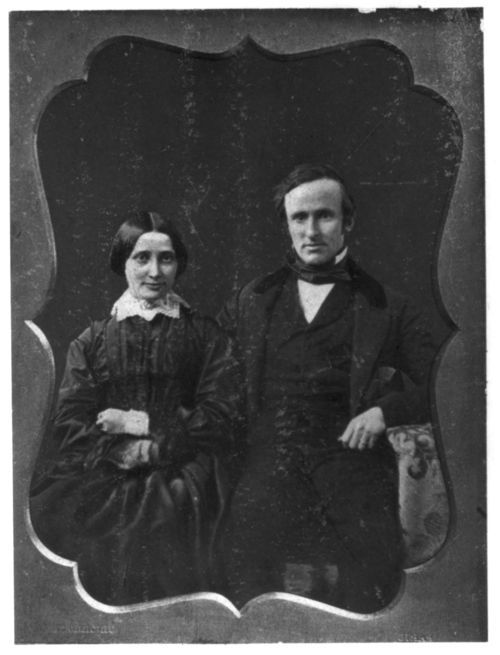 Rutherford B. Hayes and his wife on their wedding day, Dec. 30, 1852. Source: Library of Congress