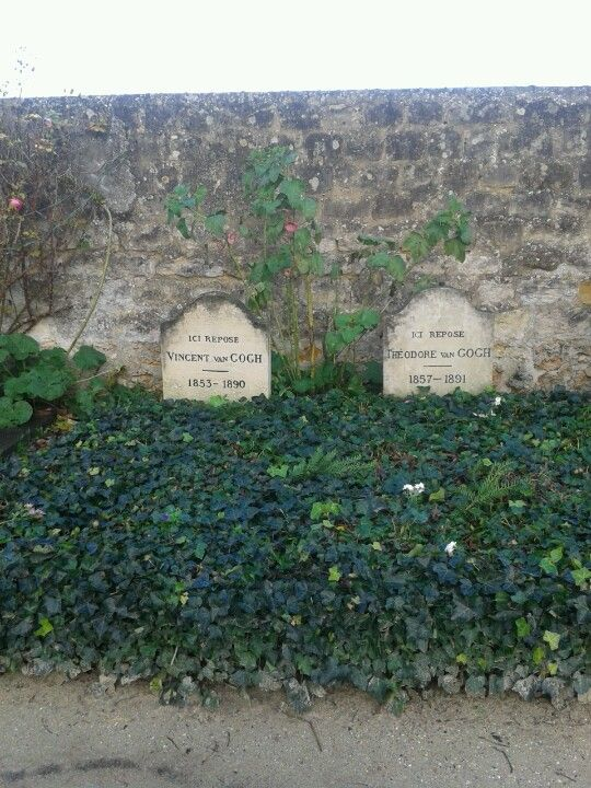 Vincent van Gogh's grave next to brother Theo van Gogh