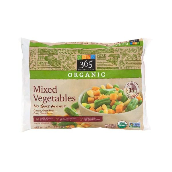 No No Corn No Green Beans No Peas 365 Organic Mixed
