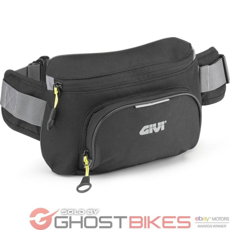 Givi Easy-T Range Waist Bag Black (EA108B) Motorcycle Biker Bumbag Reflective