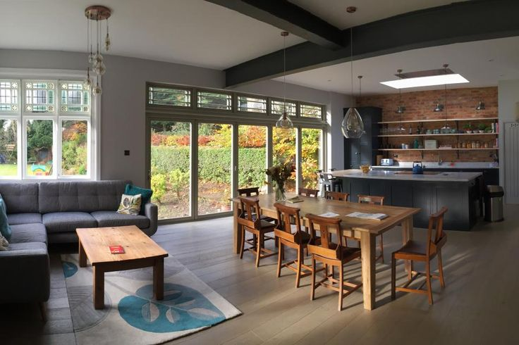 Kitchen/Family Room & Garage Conversion   S and S Architecture