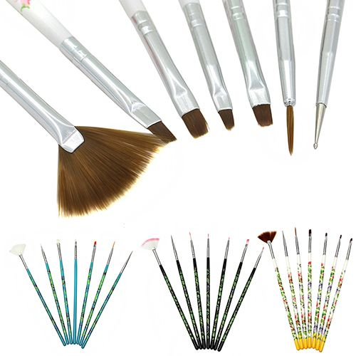 New Arrival New Arrival 7 Pcs Nail Art Acrylic UV Gel Design Brush Painting Drawing Pen Tips Tools Kit 5W44 7GXC A4R4