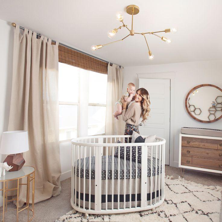 Modern Neutral Nursery - love this chic room!