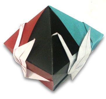 Origami Crane Dipyramid instruction
