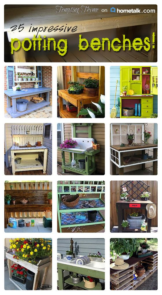 Stunning potting benches to inspire you - right here!