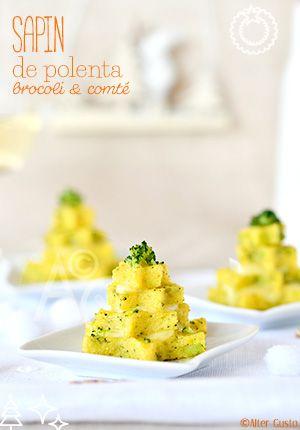 Sapins de polenta au brocoli & comté Alter Gusto