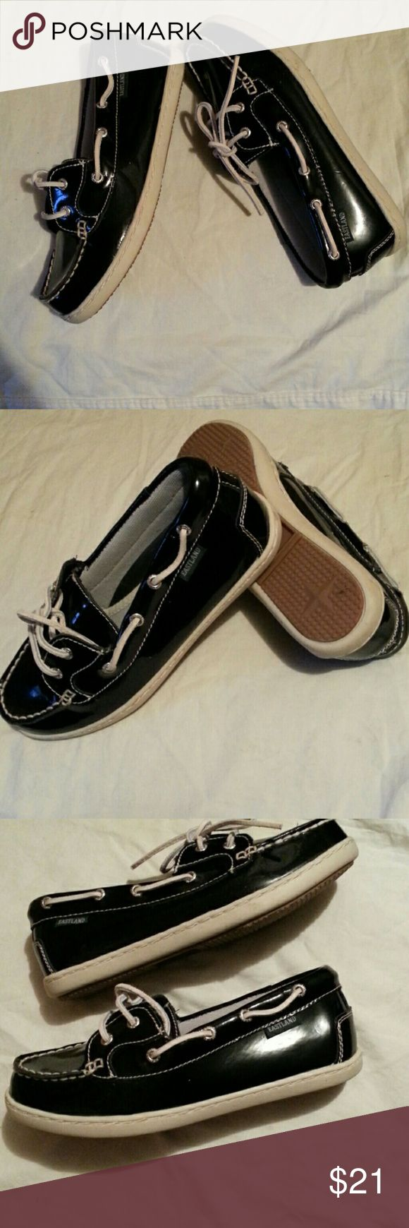 Eastland  shiny  leather  loafers#NWOT'S Black  leather  loafers  size  6.5m Eastland   Shoes Flats & Loafers