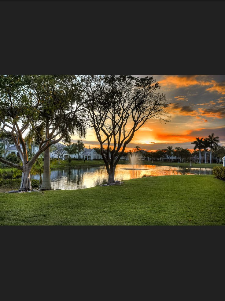 Sunset at The Charleston Apartments in Boca Raton, FL