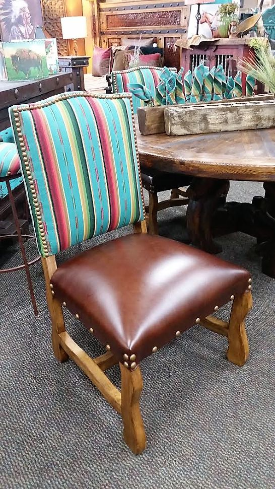 Elegant Southwestern Dining Chairs   Hancrafted Serape Dining Room Chairs