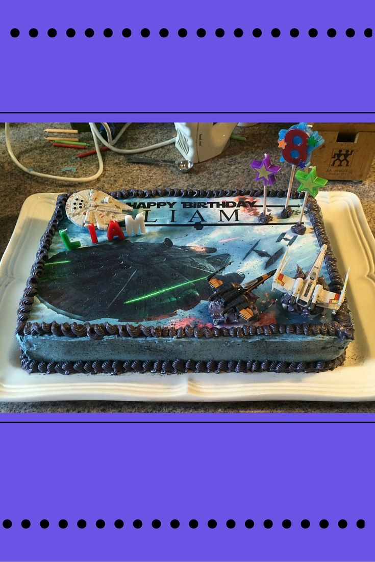 Star Wars birthday cake...