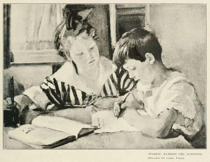 Spadini : bambini che scrivono