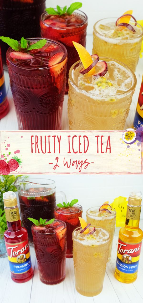 Get ready for Spring with our Fruity Iced Tea - 2 Ways. We've combined passion fruit with green tea and strawberry with black tea to create two perfectly refreshing iced tea combinations.  Which one will you try first?