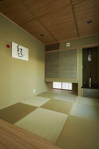 琉球畳がモダンな雰囲気を醸し出す和室