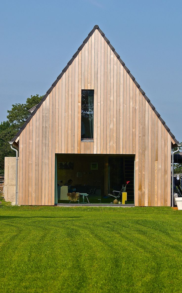Modern barn, CLT, cross laminated timber, red cedar, Barnhouse, schuurwoning