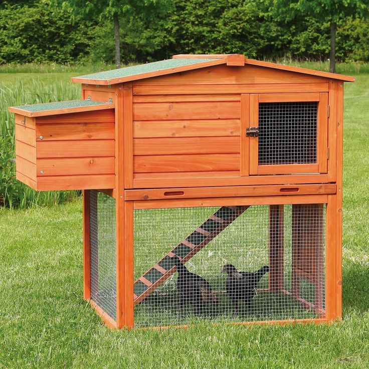 Raising chickens can be a fun and rewarding experience for any backyard farmer. They produce nutritious eggs as well as organic fertilizer, and are low-cost pets to maintain. Our Trixie 2-Story Chicke
