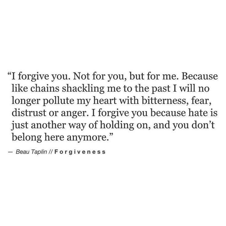 You don't belong here anymore.