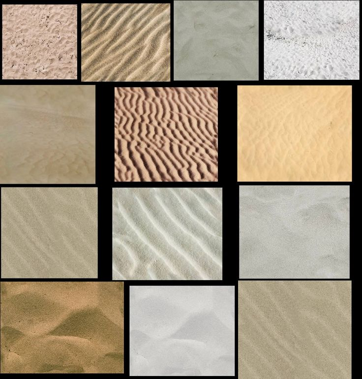 Different Sand Textures