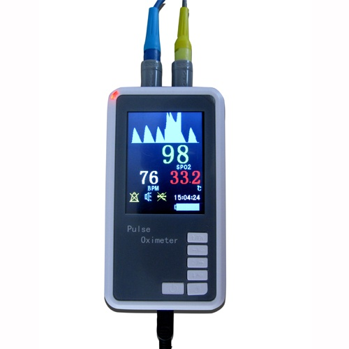 Color TFT LCD Blue-tooth Handheld Pulse Oximeter with Temperature with Software - Spo2 Monitor Pulsoximeter Pulsioxímetro Saturimetro Ossimetro, 37% Discount, now only $250, worth to buy