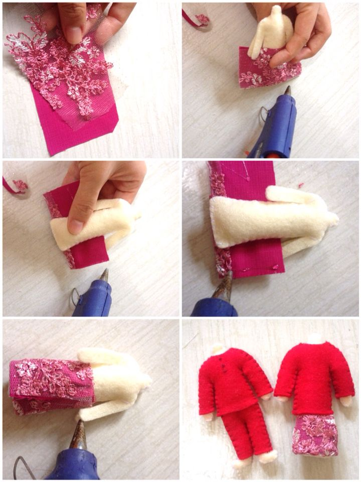 Tutorial felt miniature doll making ( Riau traditional dolls)