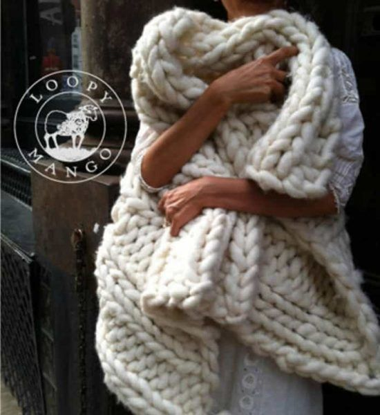 Chunky Cable Knit Throw Blanket Free Patterns