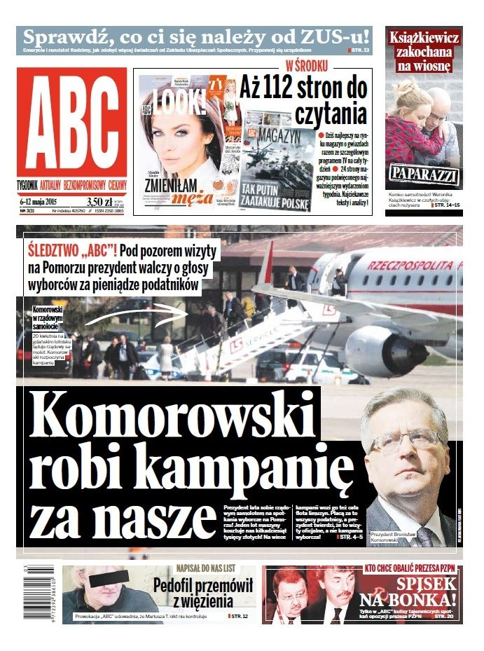 ABC nr 3/3 cover: Komorowski robi kampanię za nasze