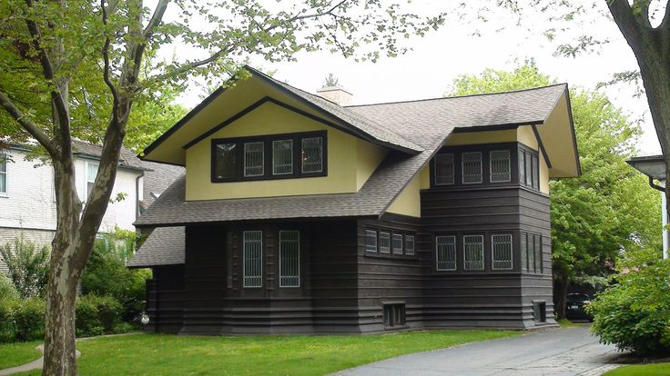 17 best images about flw davenport house on pinterest for Frank lloyd wright river house