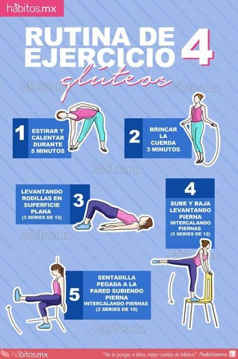 Rutina de ejercicio 4 = enfocada en glúteos