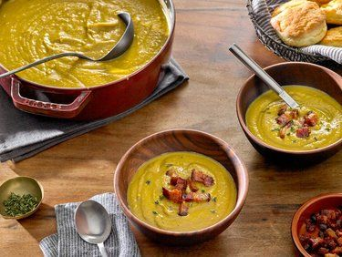 Hearty Split Pea Soup with Bacon from the NYTimes